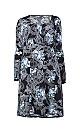 **Izabel Curve Black Print Tunic Dress