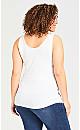 Plus Size Cotton Modal Tank - white