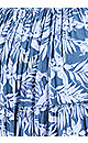 Plus Size Mykonos Print Dress - blue