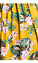 Plus Size Mykonos Print Dress - mustard