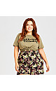 Plus Size Magaluf Print Short - coral