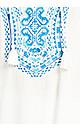 Plus Size Madiera Kaftan - white