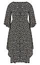 Plus Size Avril Print Dress - black