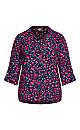 Plus Size Cuff Link Shirt - black