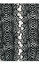 Plus Size Mixed Media Snake Top - black