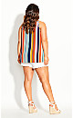 Freedom Stripe Top - coral
