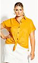 Explore Button Shirt - amber