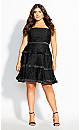 Angelic Lace Dress - black