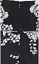Serene Floral Playsuit - black