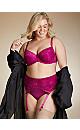 Plus Size Cosette Lace Demi Bra, Raspberry