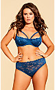 Plus Size Olivia Strappy Back Lace Panty, Teal