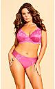 Plus Size Darcie Underwire Lace Bra - hot pink