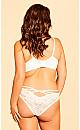 Plus Size Olivia Strappy Lace Panty - Ivory