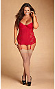 Solange Lace Chemise - red