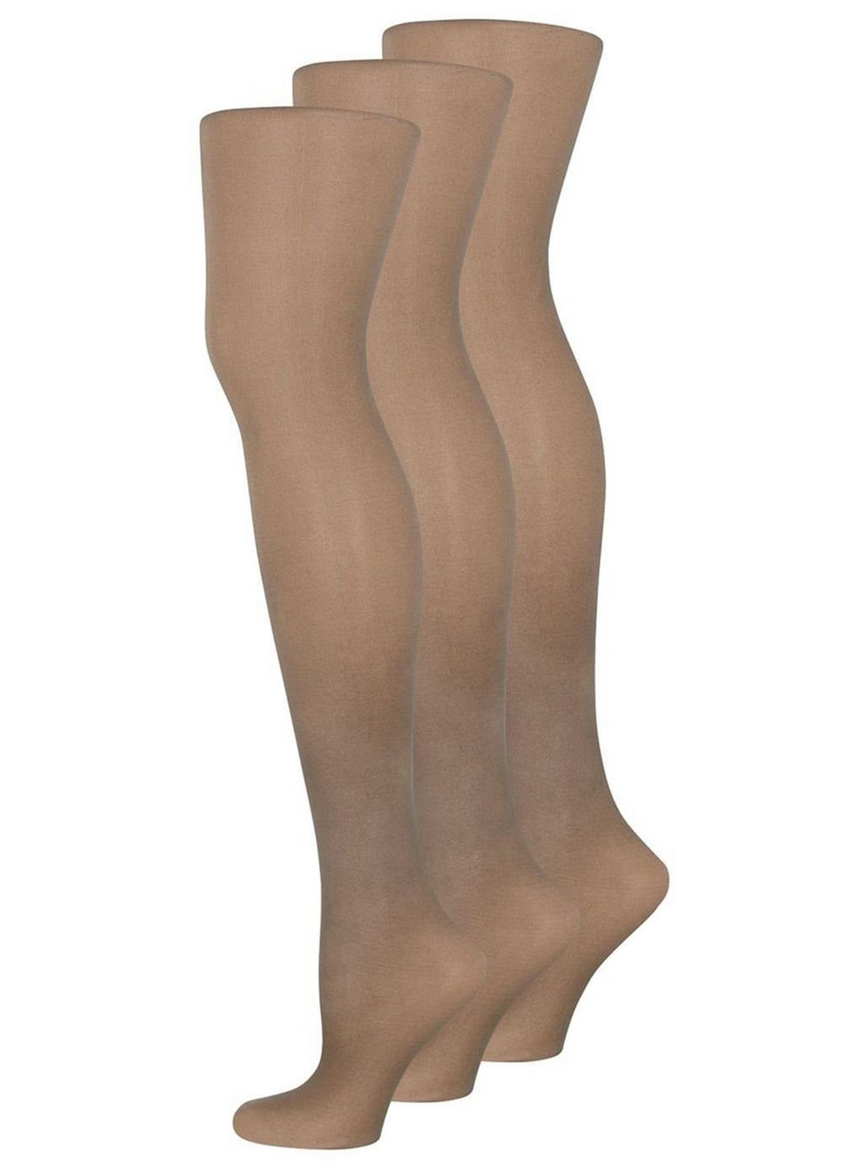 Pretty Polly 15 Denier 3 Pack Curve Tights in Beige