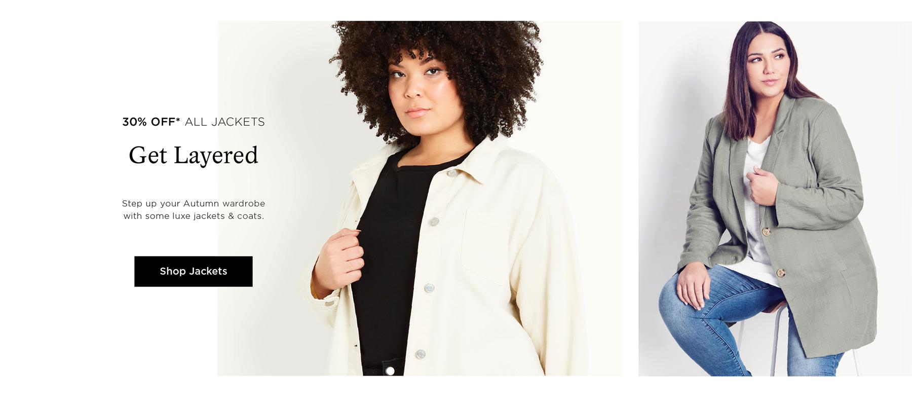 Autumn Essentials - Shop 30% Off* Jackets