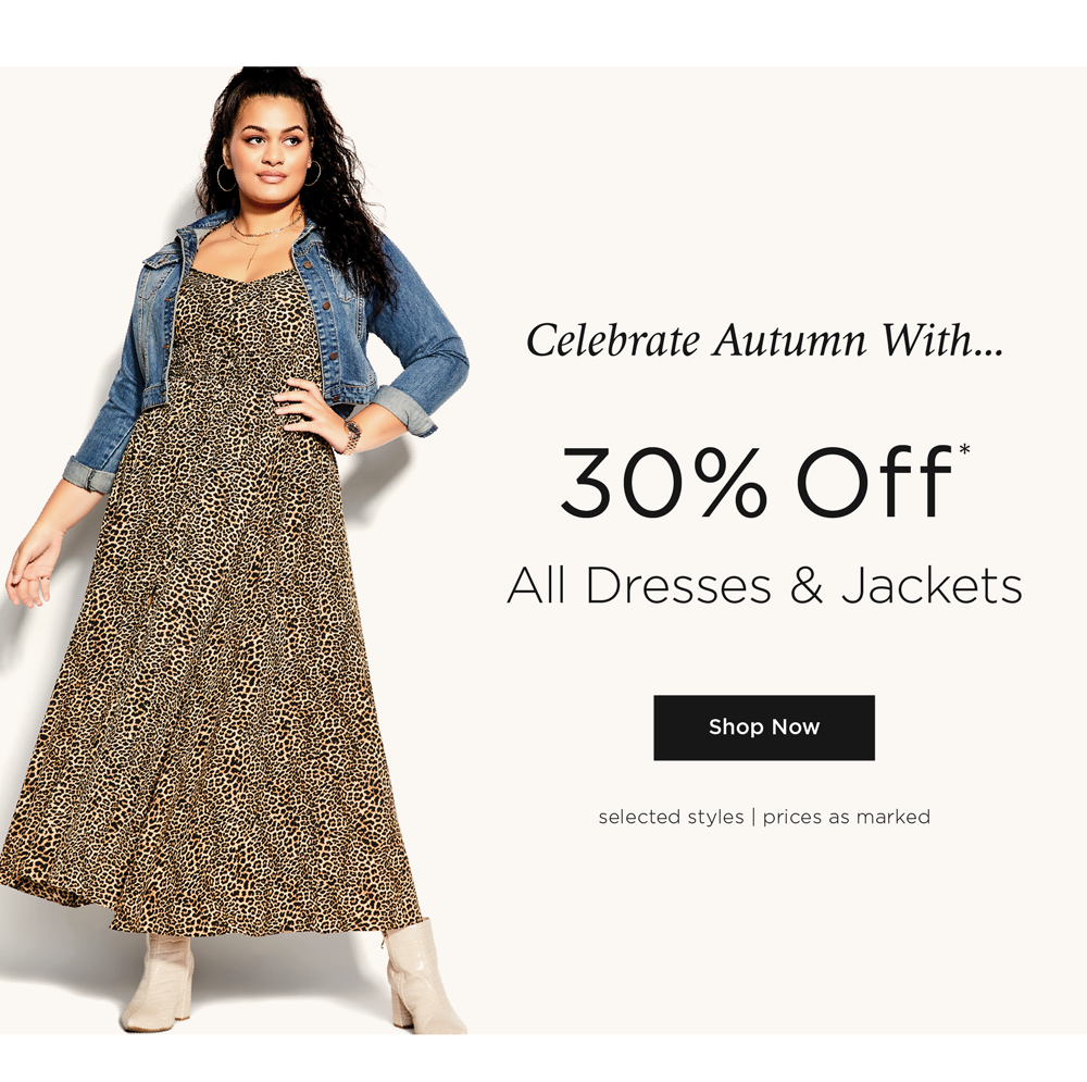 Celebrate Autumn With 30% Off* Dresses & Jackets